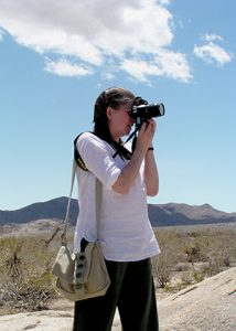 A photo of me, taking a photograph, at Joshua Tree National Park, America