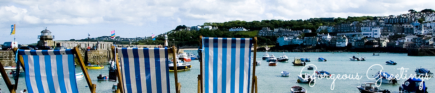 Photo of deckchairs at St Ives by Jane Mucklow, Greetings Cards header page image