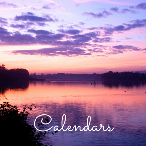 Photo of purple sunset over Chipstead Lake, Calendars page image