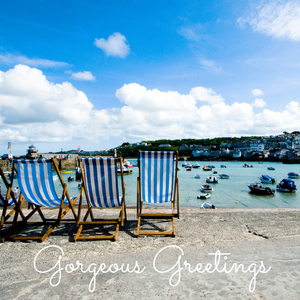 Photo of deckchairs at St Ives, Greetings Cards page image