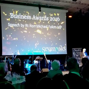 MP Sir Michael Fallon at the Sevenoaks Business Awards 2016