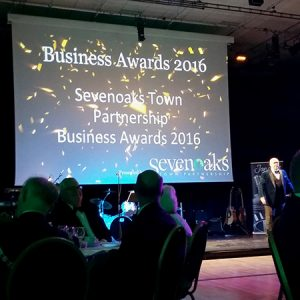 Paul Andrews compering Sevenoaks Business Awards 2016