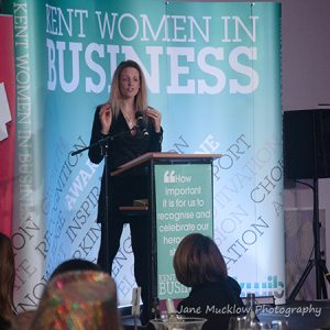 Susannah Schofield at the 2017 Kent Women in Business Awards