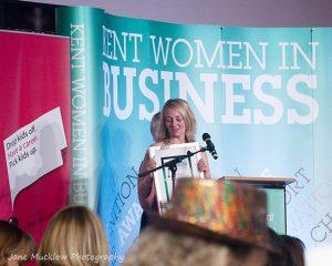 Amanda Flanders at the 2017 Kent Women in Business Awards