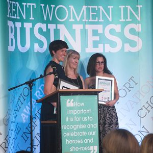 Siobhan Atkins at the 2017 Kent Women in Business Awards
