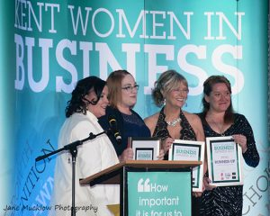 Winners of Inspired Acheivement at the 2017 Kent Women In Business Awards