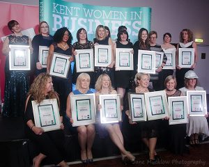 Winners at the 2017 Kent Women in Business Awards