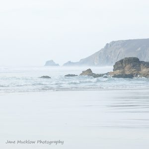 View north from Porthtowan Beach, Cornwall, by Jane Mucklow Photography