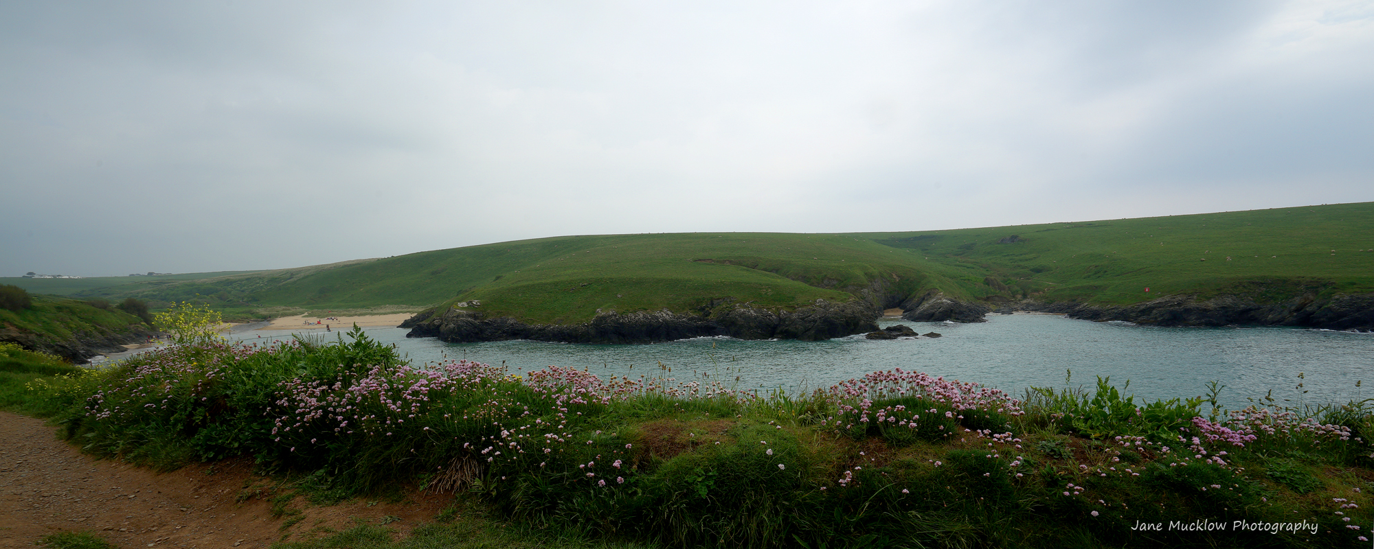 Photograph of Porth Joke, on the West Pentire headland just between Newquay and Perranporth, Cornwall, by Jane Mucklow