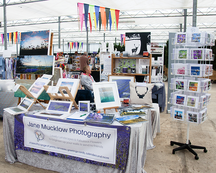 Photo of Jane Mucklow Photography's stall at a Keep It Local craft fair