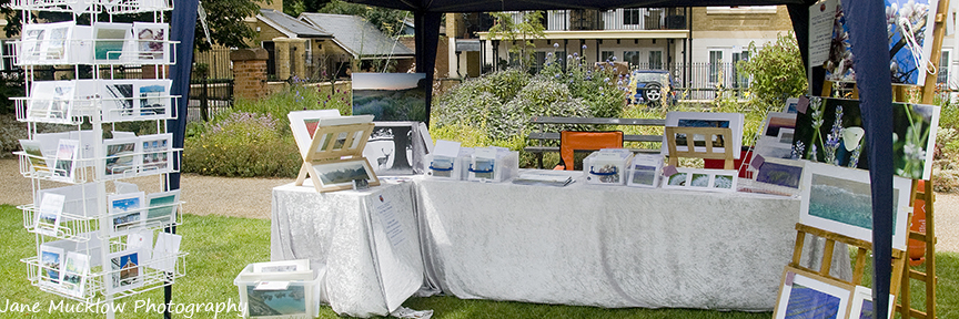Photograph by Jane Mucklow of her craft fair stall