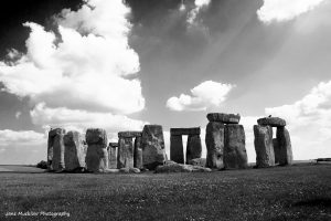 Black and white photograph of Stonehenge by Jane Mucklow