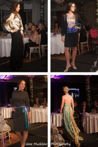 Photographs by Jane Mucklow of models wearing outfits designed by Josh