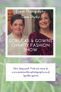 Blog pin post for Event Photography photos of the Gorillas & Gowns charity fashion show