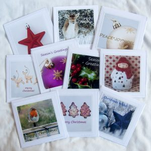 the ten Christmas cards in a bundle by Jane Mucklow Photography