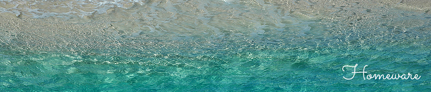 Sea #2 photograph of turquoise sea and sand, homeware page header, by Jane Mucklow Photography