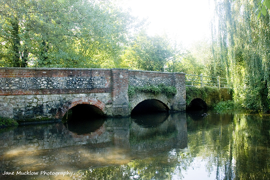 Colour photo of the bridge at Shoreham, Kent over the River Darenth, by Jane Mucklow