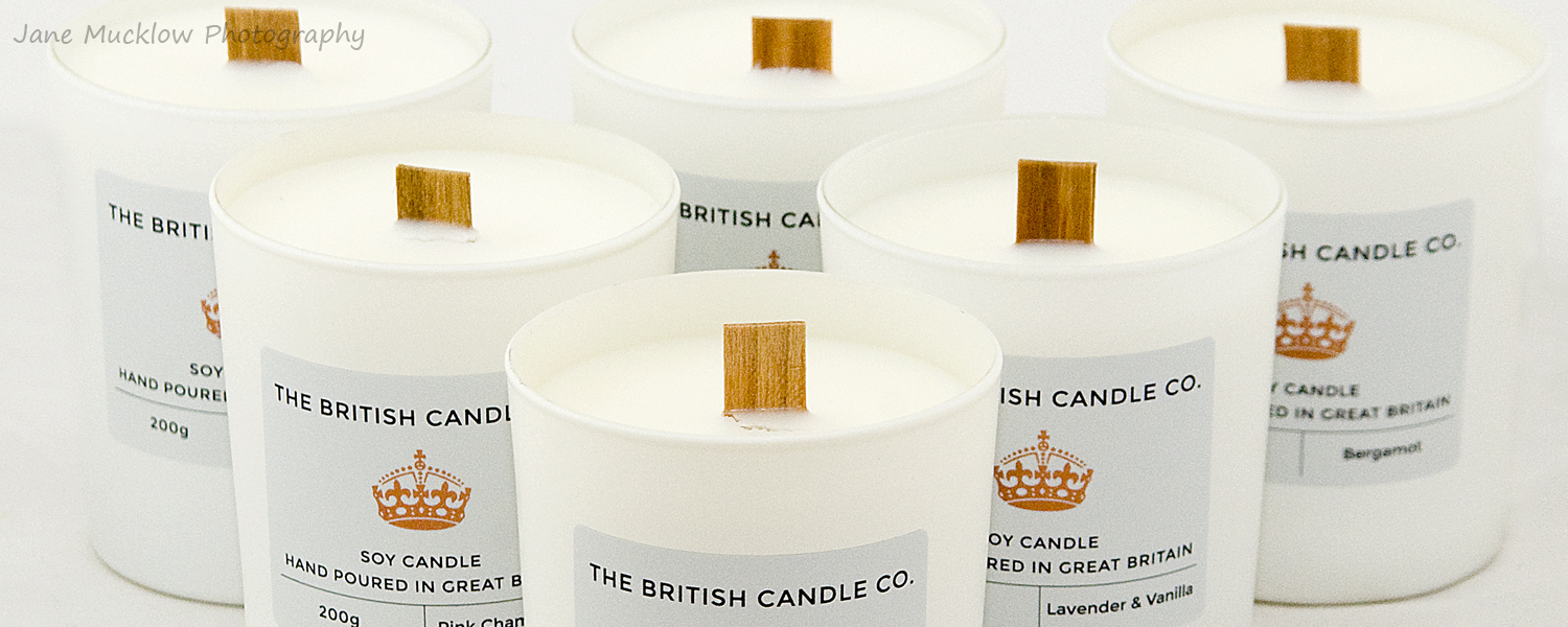 Candles by The British Candle Co, example marketing photo by Jane Mucklow Photography