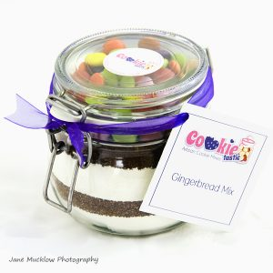 Cookietastic cookie ingredients jar, example product shot by Jane Mucklow