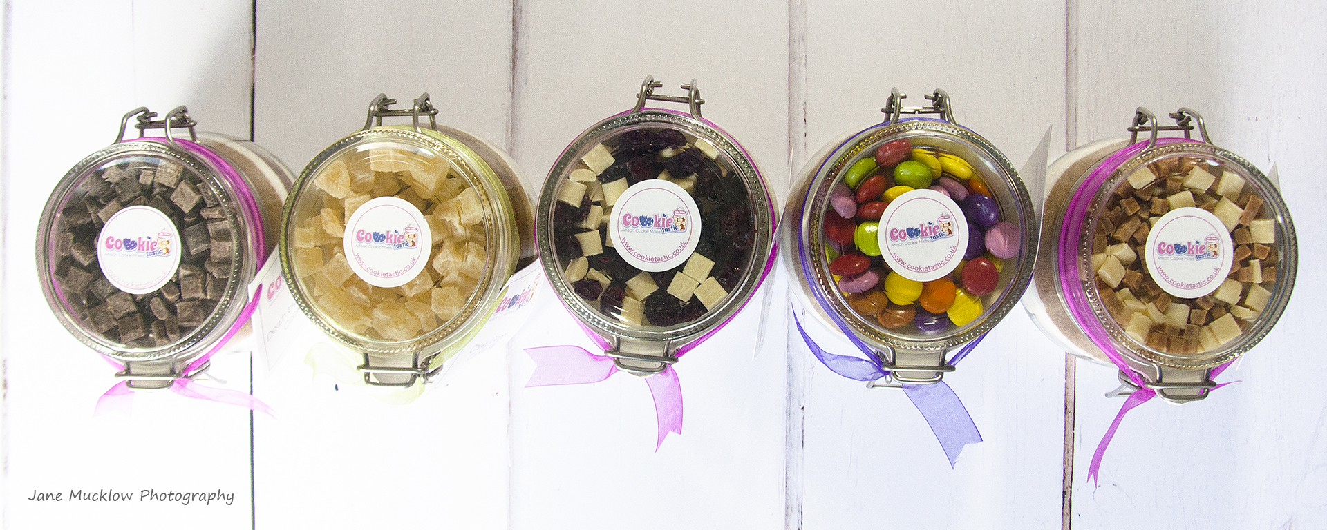 Cookie jars by Cookietastic, marketing shot example by Jane Mucklow