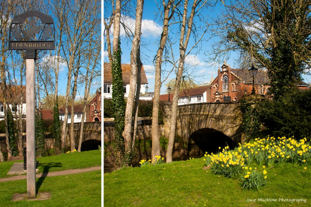 Montage of photographs of Edenbridge, for March in the Colours of Kent 2019 Calendar by Jane Mucklow Photography