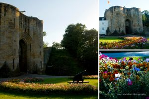 Montage of photographs of Tonbridge Castle, for August in the Colours of Kent 2019 Calendar by Jane Mucklow Photography