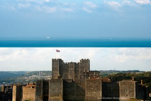 Montage of photographs of Dover Castle for October in the Colours of Kent 2019 Calendar by Jane Mucklow Photography