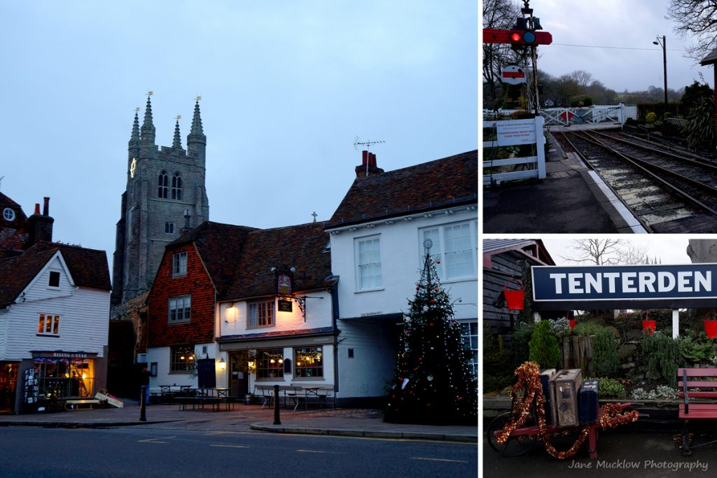 Montage of photographs of Tenterden for December in the Colours of Kent 2019 Calendar by Jane Mucklow Photography