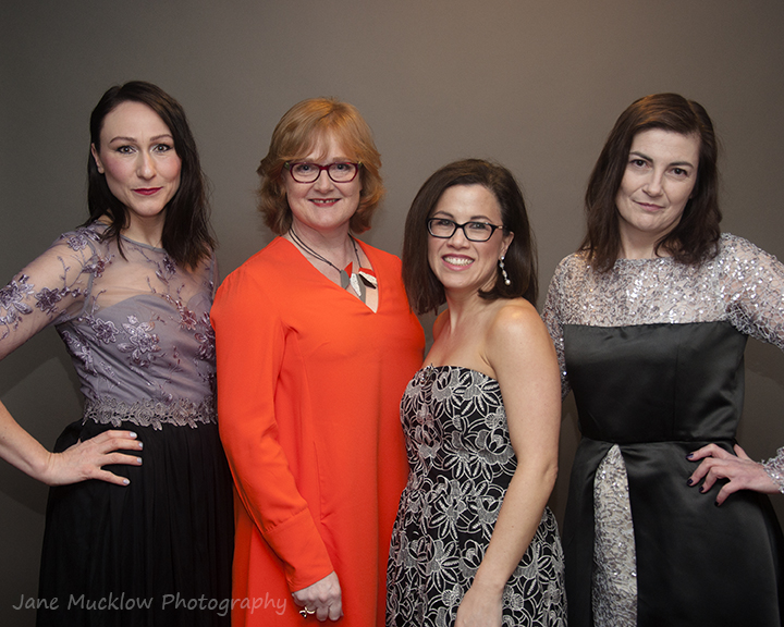 Photograph of 4 businesswomen at the Kent Women in Business Awards 2017 by Jane Mucklow