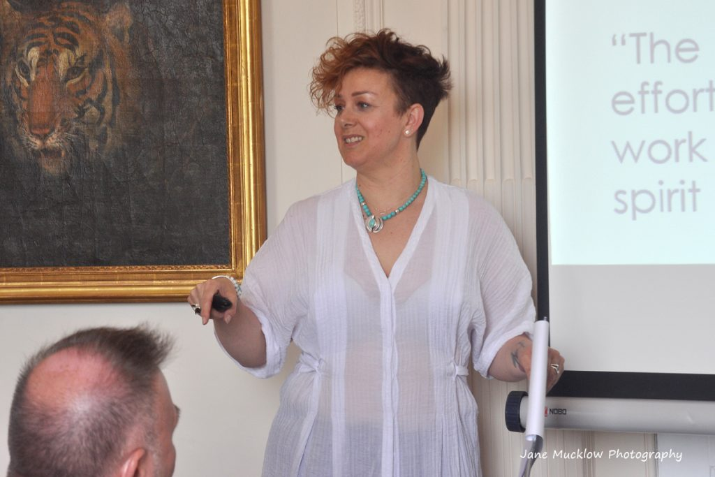 Photo of Ali Hollands' talk at the Networkers Networking event at Port Lympne, by Jane Mucklow