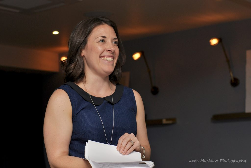 Photograph of Rachel Latham at the Kent launch of Girl Tribe Gang by Jane Mucklow