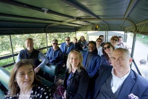 Photo of the safari at the Networkers Networking event at Port Lympne, by Jane Mucklow