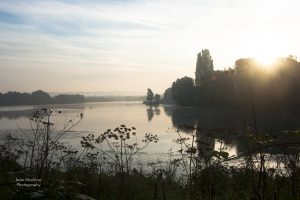 Photograph of Chipstead Lake at sunrise, Sevenoaks, by Jane Mucklow