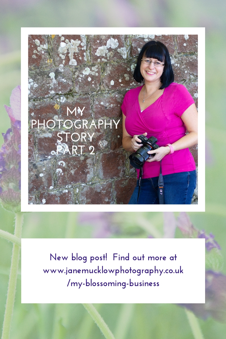 Photograph of Jane Mucklow by Manjit Sohal - blog pin image for My Photography Story part 2 by Jane Mucklow Photography