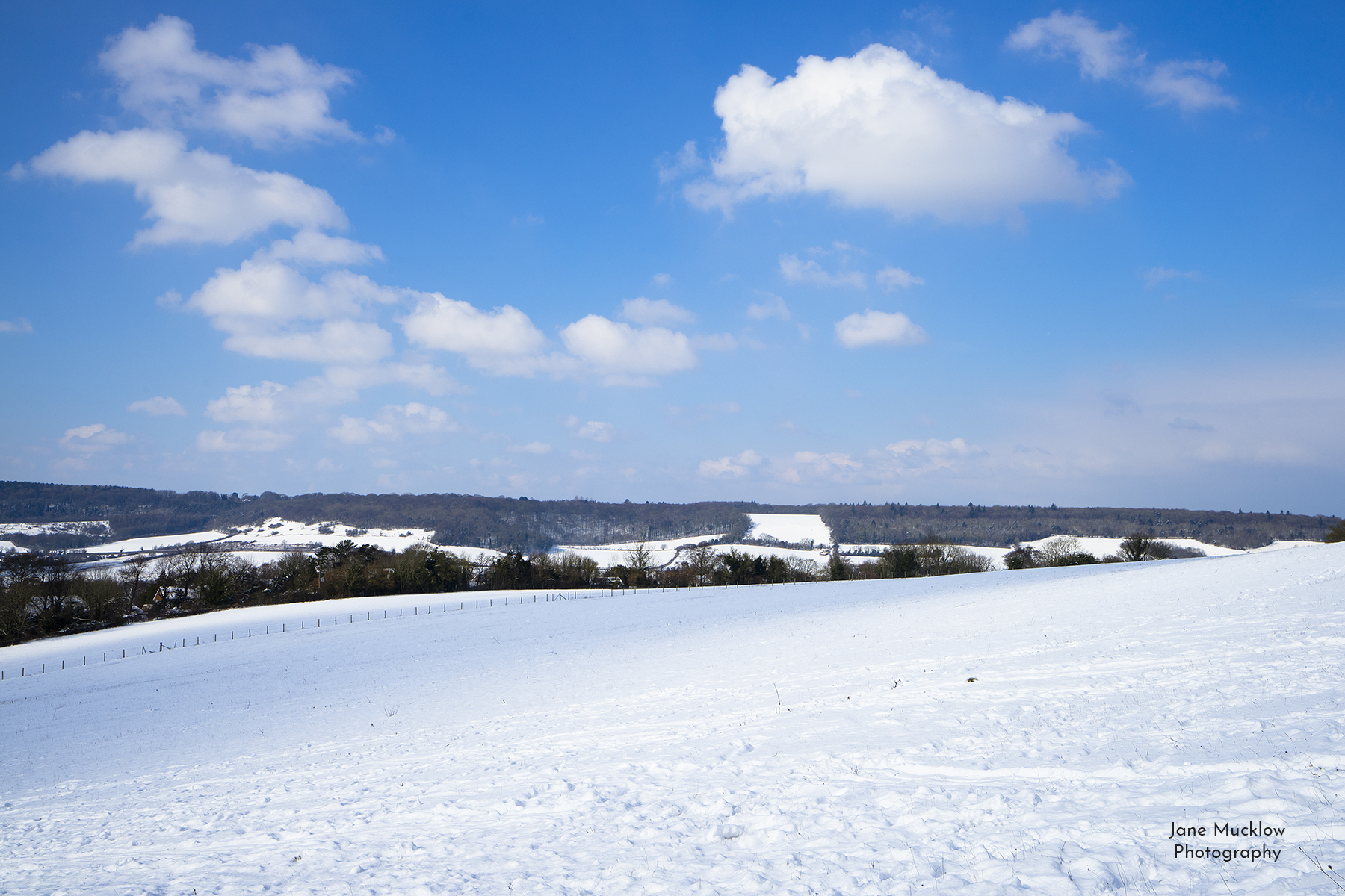 Snowy view to Shoreham, photograph by Jane Mucklow