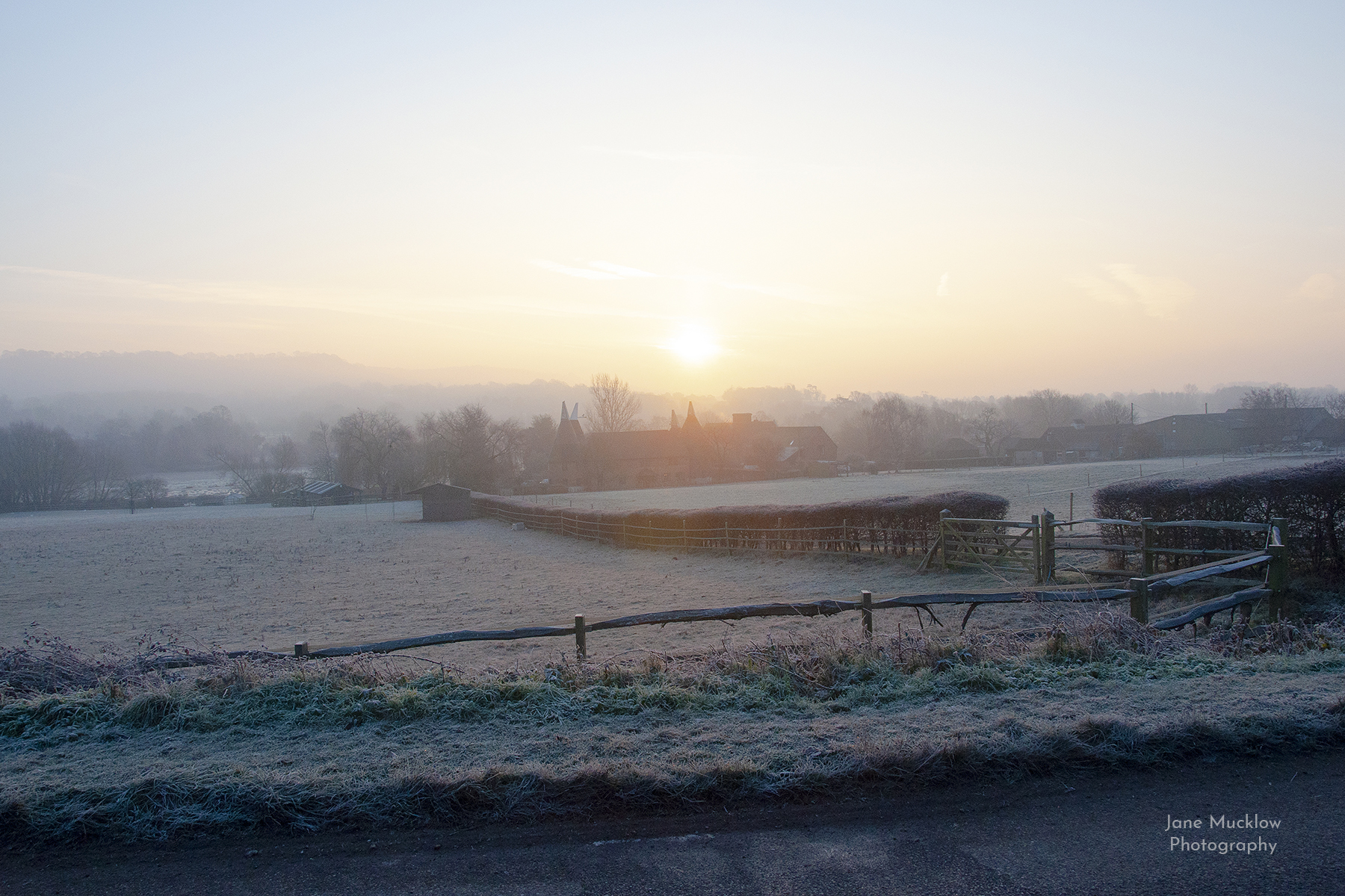 Frosty sunrise over Shoreham, photo by Jane Mucklow