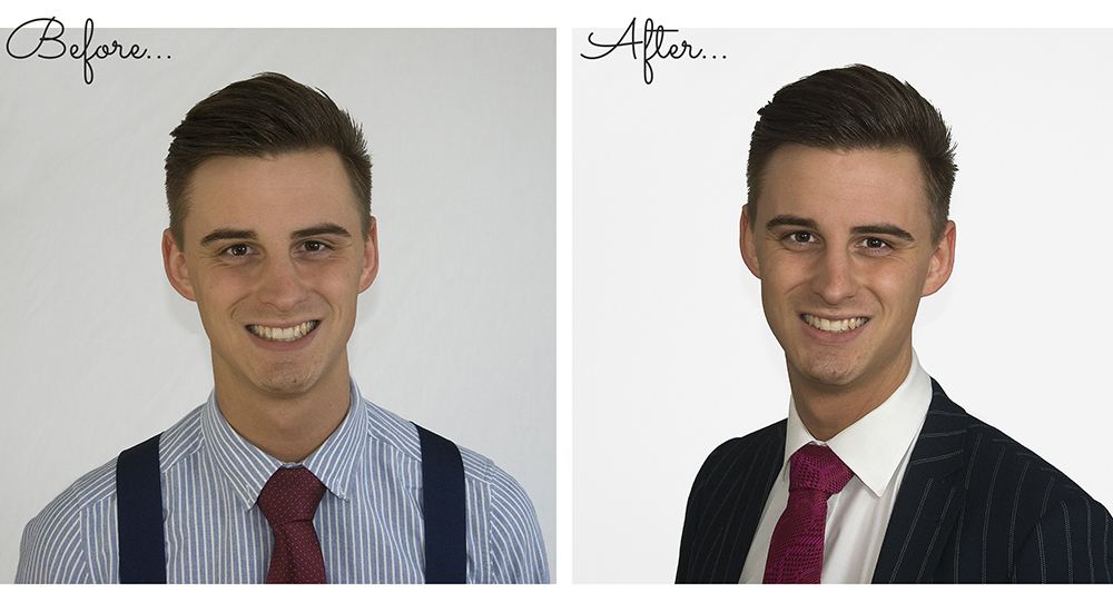 Before and After photo examples of Capturing Confidence with Colour service by Jane Mucklow