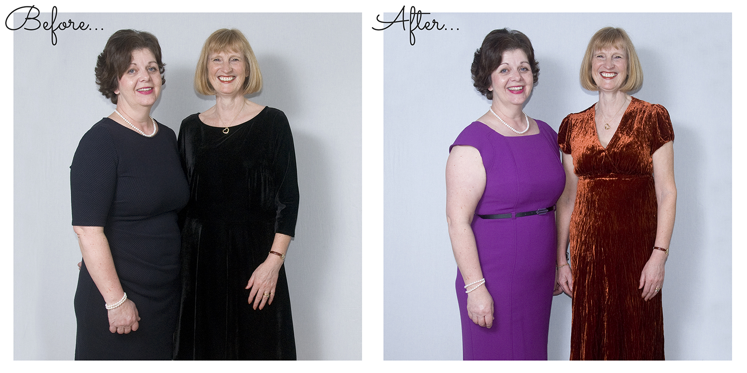 efore and After photo examples of Capturing Confidence with Colour service by Jane Mucklow