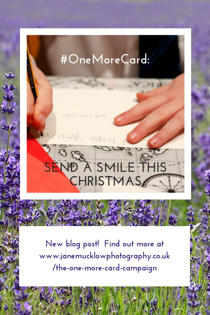 One More Card campaign blog, pinterest post image