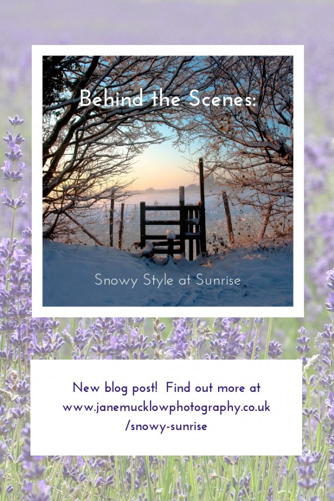 Blog picture for Pinterest, snowy style at sunrise photo by Jane Mucklow