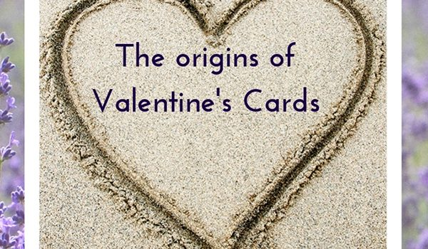 Featured post image for blog on Valentine's cards, with a photo of a sand heart by Jane Mucklow