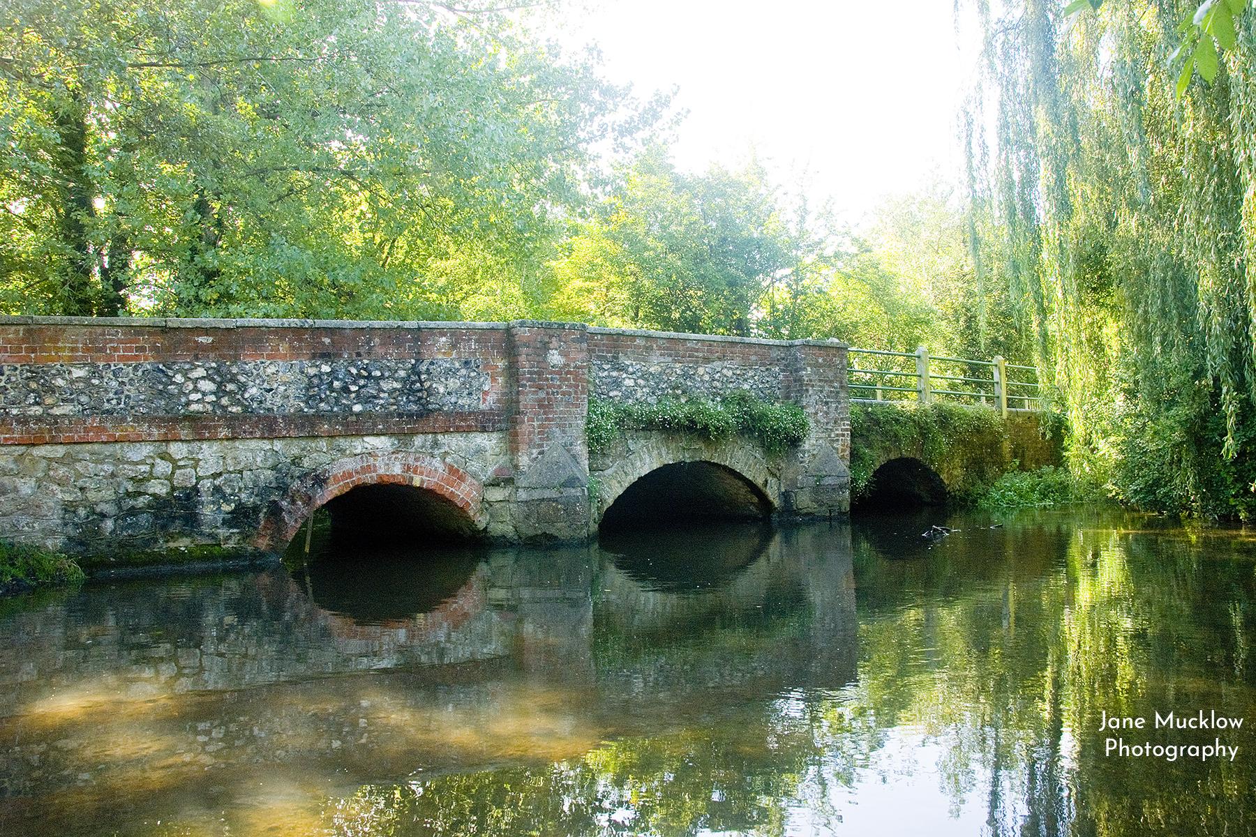 Photo of Shoreham Bridge, in sunshine, by Jane Mucklow
