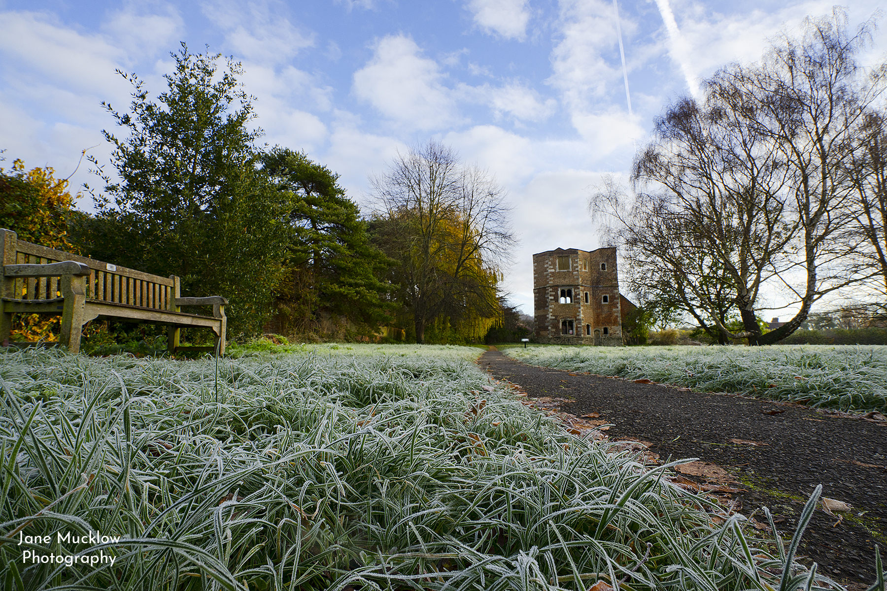 Photo by Jane Mucklow of Otford Palace, frosty morning, Otford, Kent