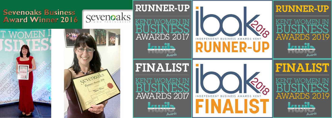 montage of award logos received by Jane Mucklow Photography