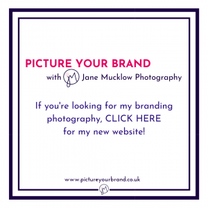 Title button for website link to Picture Your Brand website by Jane Mucklow Photography
