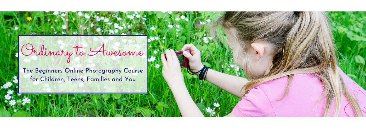 Photograph of a girl taking a photo by Jane Mucklow Photography - Ordinary to Awesome photography course title image