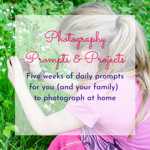 Photograph of a girl taking a photo by Jane Mucklow Photography - Prompts & Projects photography email course featured page image