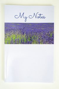 Jane Mucklow Photography A5 lined notebook with lavender photo