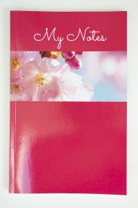 Jane Mucklow Photography A5 lined notebook with cherry blossom photo