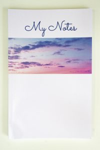 Jane Mucklow Photography A5 lined notebook with sunset sky photo